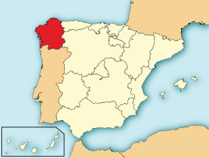 Galician sijainti