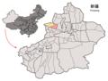Location of Jinghe within Xinjiang (China).png