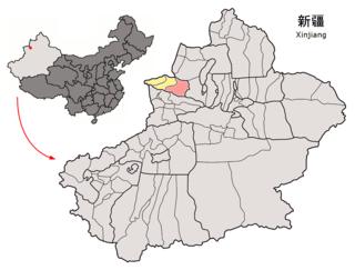 Jinghe County County in Xinjiang, Peoples Republic of China
