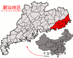 Map of Chaoshan in Red