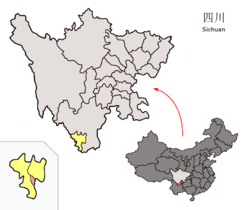 Location of Yanbian within Sichuan (China).png