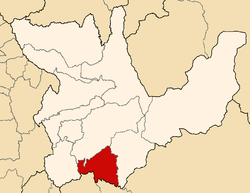 Location of Ambo in the Huánuco Region