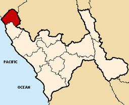 Location of the province Chepén in La Libertad.png