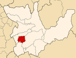 Yarowilca Province - Image: Location of the province Yarowilca in Huánuco