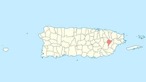 Juncos, Puerto Rico - Image: Locator map Puerto Rico Juncos