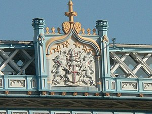 Coat of arms of the City of London - Image: London, Tower Bridge coat of arms close up geograph.org.uk 560796