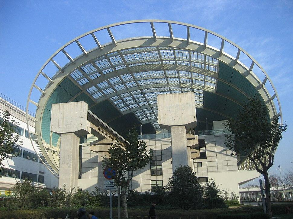 Longyang Road Station Maglev Rail End