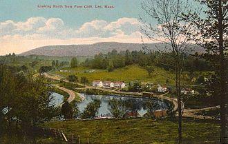 Lee, Massachusetts - Housatonic Railroad track in 1911