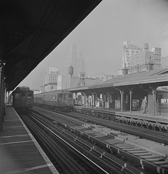 IRT Third Avenue Line - The Third Avenue elevated's trains at 59th Street