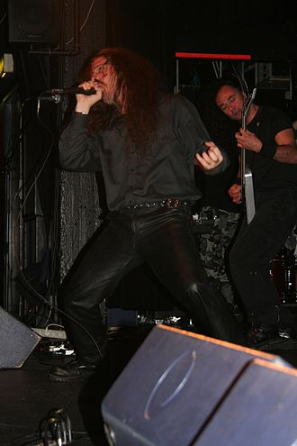 Cryptopsy - Lord Worm performing live in Århus