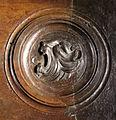 Lorenzo ghiberti e aiuti, porta nord del battistero di firenze, retro con teste leonine, 13.JPG