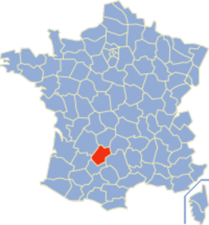Communes of the Lot department - Image: Lot Position