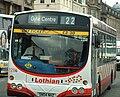 Lothian Buses guided bus 128G Volvo B7RLE Wrightbus Eclipse Urban Harlequin livery Route 22 branding.jpg