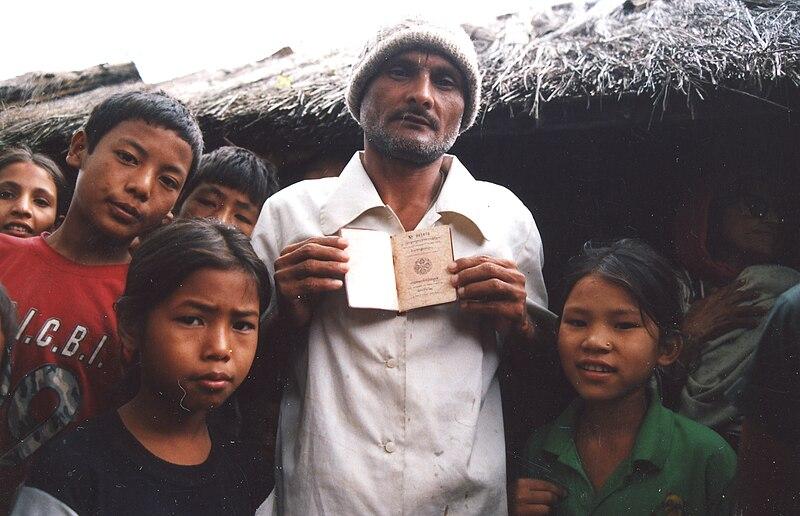 Lotshampa refugees in Beldangi Camp.jpg
