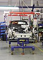 Lotus Chassis on Rolling Stand - exfordy.jpg