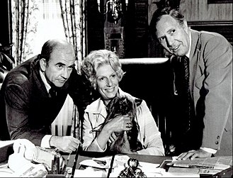 Nancy Marchand - Marchand with Ed Asner and Mason Adams in Lou Grant in 1977