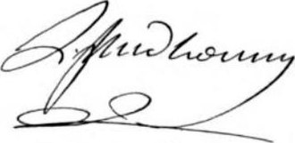 Louis-Marie Prudhomme - Prudhomme's signature.
