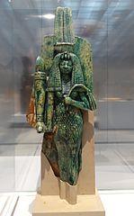 La reine Tiy aux côtés du roi Aménophis III