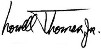 Lowell Thomas Jr. - Image: Lowell Thomas, Jr. signature 76gen