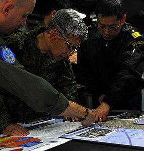 Lt. Gen. Eiji Kimizuka on board USS Ronald Reagan -31 Mar. 2011 a.jpg
