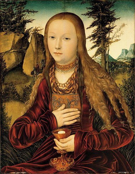 File:Lucas Cranach d.Ä. - Die heilige Barbara in einer bewaldeten Landschaft.jpg