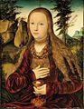 Lucas Cranach d.Ä. - Die heilige Barbara in einer bewaldeten Landschaft.jpg