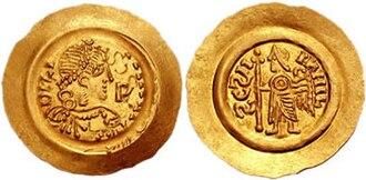 Liutprand, King of the Lombards - Image: Luitprand tremissis 661673