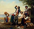 Lunch of a neapolitan peasant family - Celestin Joseph Blanc (1818 – 1888, French).jpg