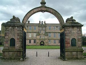 Lyme Park - North front of the house seen through the gateway