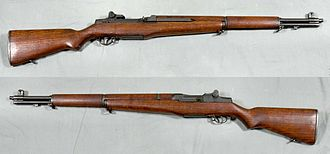 M1 Garand - M1 Garand rifle. From the collections of the Swedish Army Museum, Stockholm, Sweden.