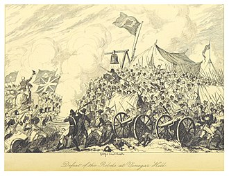Irish Rebellion of 1798 - Defeat of the Rebels at Vinegar Hill, by George Cruikshank