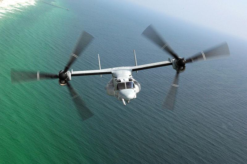 米海兵隊MV-22 固定翼モード