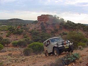 Gibson Desert - A four wheel drive in the Gibson Desert