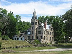Mac-O-Chee Castle, a historic site in the township