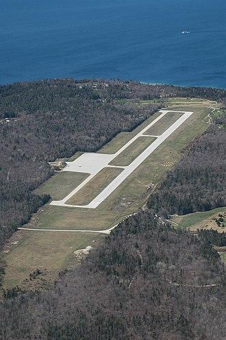Mackinac Island Airport - Aerial view of Mackinac Island Airport as of May, 2007