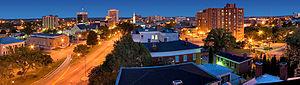 Downtown Macon, Georgia - Image: Macon night skyline