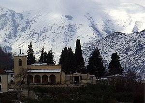 Bugnara - Madonna della Neve church, in winter.