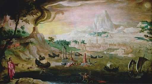 Maerten van Heemskerck - Christ Appearing to St Peter on the Sea of Tiberias (Bowes Museum)