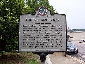 Magevney House - Image: Magevney House Memphis TN historical marker