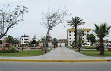 Hospital distrital Vista Alegre, ubicado en la plaza mayor de Vista Alegre.