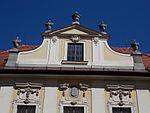 Main post office, gable. - 22 Széchenyi Street, Eger, 2016 Hungary.jpg