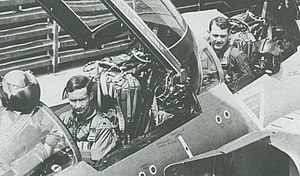 Roger Locher - Maj. Robert Lodge (left) and Capt. Roger Locher (right) in the cockpit of F-4D 65-0784, seen earlier in 1972: the team already had two MiG-kills to their credit when they clashed with MiG-19s and MiG-21s on the morning of May 10, 1972.