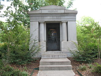 Millsaps College - Mausoleum on the campus of Millsaps College, Jackson, Mississippi, containing the graves of Major Reuben Webster Millsaps and his wife.