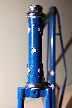 "Malvern Star - A vintage Malvern star frame, a ""top of the range"" Five Star model"
