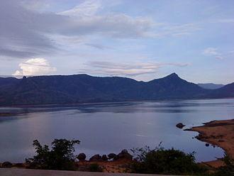 Manimuthar River (tributary of Thamirabarani) - View of Manimuthar Dam in Tirunelveli District