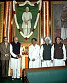 Manmohan Singh, the Union Minister for Parliamentary Affairs and Water Resources, Shri Pawan Kumar Bansal and Shri L.K. Advani paid tributes to the former Prime Minister, Late Ch. Charan Singh on his 107th birth anniversary.jpg
