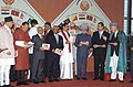 Manmohan Singh with other head of state and Government of SAARC Countries and other dignitaries are at the releasing of SAARC Summit commemorative stamp during the 15th SAARC Summit at Bandaranaike Memorial International.jpg