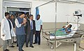Mansukh L. Mandaviya inspecting the Chennai Port Trust hospital and interacting with doctors, staff and patients in the hospital, in Chennai.jpg