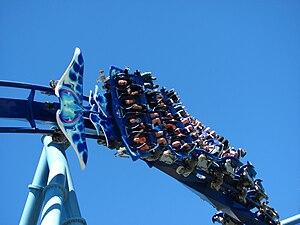 Manta (SeaWorld Orlando) - One of Manta's trains