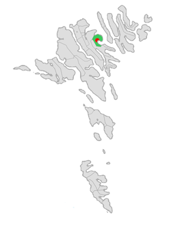 Location of Fuglafjarðar kommuna in the Faroe Islands